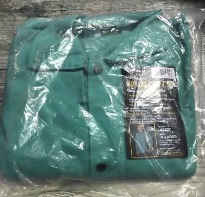 Tillman 6230 9oz Green FR Cotton Welding Jacket - Size XL, New In Package