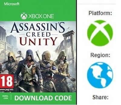 Assassins Creed UNITY for XBOX ONE DIGITAL DOWNLOAD Full Game redeem on Xbox
