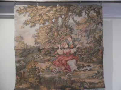 Large Vintage French Woven Tapestry Panel / Wall Hanging / Cushion / Upholstery
