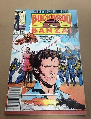 Buckaroo Banzai #1 (VF+) & 2 (NM-) Sharp Set! 1984 Copper Age Marvel Comics