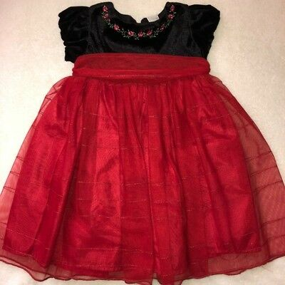 Holiday 18 months Infant/Toddler Red Dress Baby Girl
