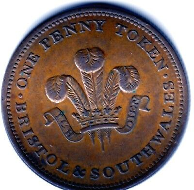 Bristol & South Wales One  Penny Token 1811