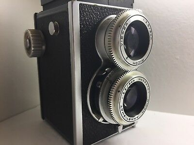 Super Richoflex TLR Medium Format Film Camera With Case Tested Working/For Parts