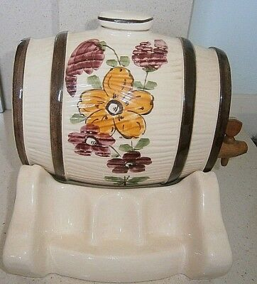 Vintage Ceramic Barrel on Stand