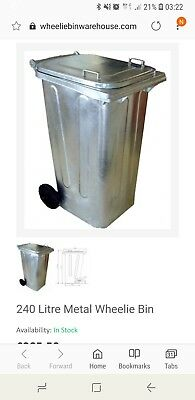 Wheelie Bin 240 Metal Like New Collection only in Bristol never used