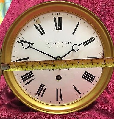LAWSON & SON BRIGHTON, LARGE FRENCH CLOCK MOVEMENT & DIAL spares or repair