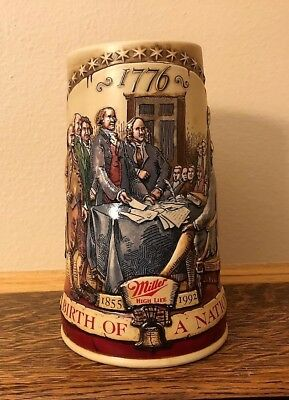 Miller Beer Stein - 1776 Declaration of Independence (2nd In Series) 1855-1992
