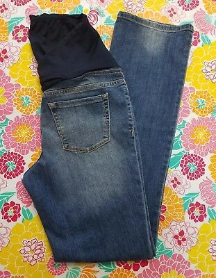 Isabel Maternity Over The Belly Size 4 Boot Cut Jeans