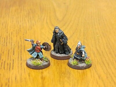 Games Workshop Lord of the Rings Denathor, Pippin and Merry painted metal miniat