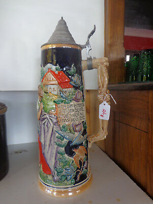 Large 3 liter German Stein