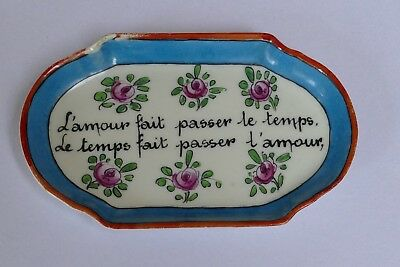 Vintage French Pottery Pin Dish