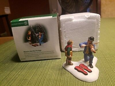 """Dept 56 New England Village, """"Maestro and His Protege"""" 56691"""