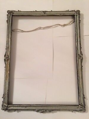 Old Antique Type Picture Frame Wooden .gesso Plaster Ornate