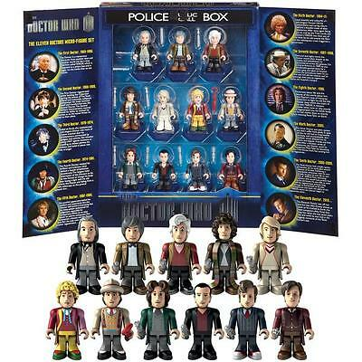 Dr Who 11 Eleven Doctors Micro Figure Character Building 50Th Anniversary Set