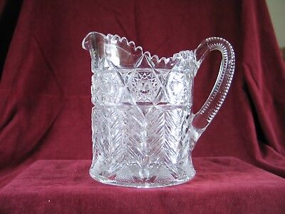 PITCHER - Antique cut glass early 1900s excellent condition