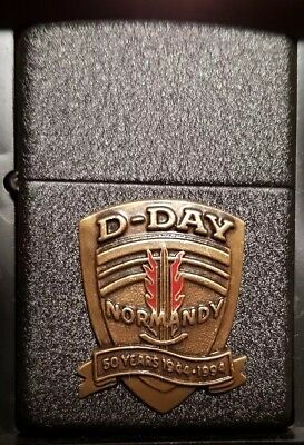 Zippo D Day Black Crackle Limited Edition Lighter (Rare)