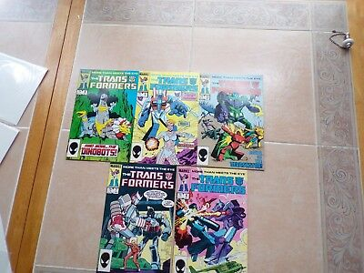 vintage 1985 transformers comic books