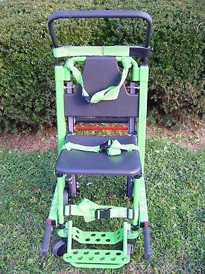 Stryker REF Model 6254 Evacuation Stair Chair - Excellent Condition - Green