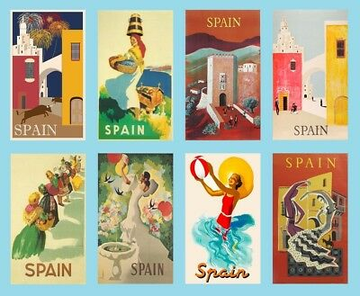 8 Vintage Style Spain Magnets