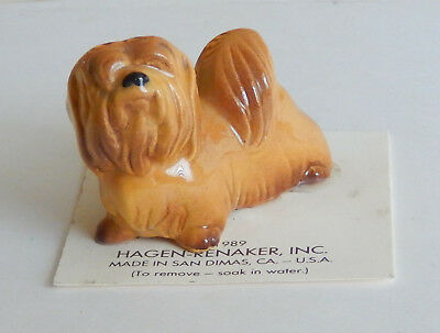 HAGEN RENAKER Lhasa Apso on original 1989 card