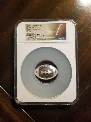 2017 Canada $25 Football Joe Theismann Autograph NGC PF70 First Day of Issue