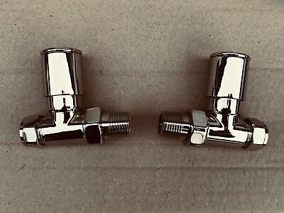 Radiator Valves Straight Chrome