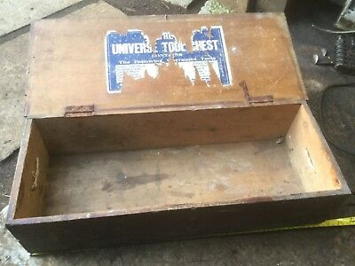 Vintage Carpenters wood tool box storage
