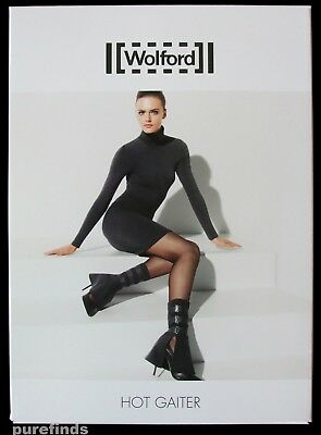 Wolford Hot Gaiter, Military Style, Black, Fetish Ankle Accessory, One Size, Nwt