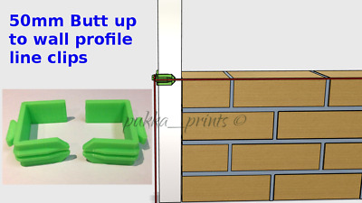 50 mm Line Holder Clips Brick laying wall Building for Butt up to wall profiles