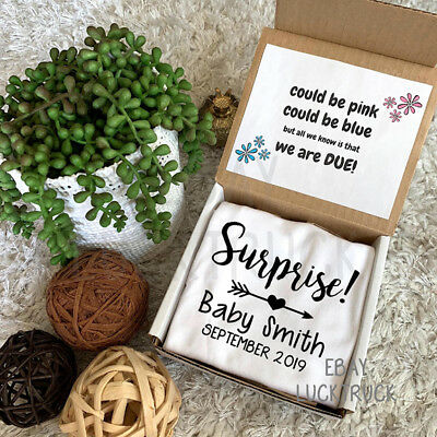 Surprise Box Pregnancy Reveal Announcement Custom Baby Photography Gift Picture