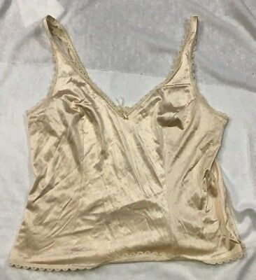 Vintage Woman's Warner's Perfect Measure Beige Camisole Cami Top Size 38