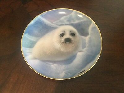 "Franklin Mint Limited Edition ""Snow Pup"" Collectors Plate #JA1496 by Wepplo"