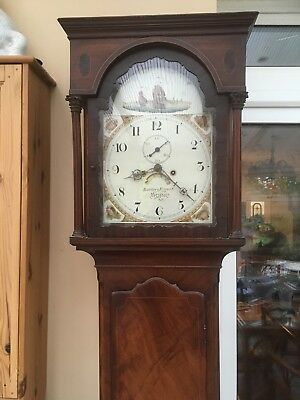 antique grandfather clock By Bartley And Eggert Bristol