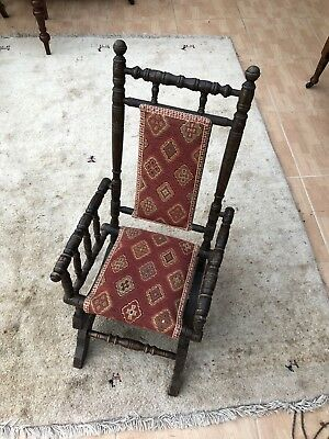 Antique Victorian Child's American style rocking chair - collection Hunsdon SG12