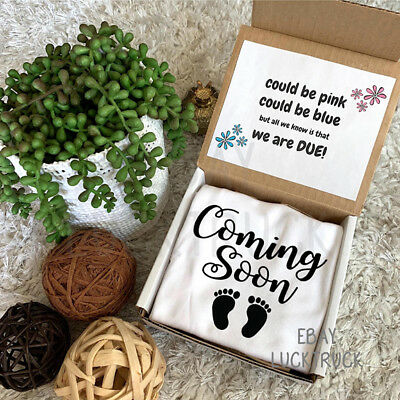 Coming Soon Box Pregnancy Reveal Announcement Custom Baby Photography Gift