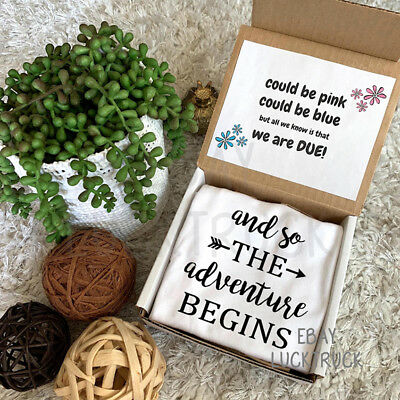 The Adventure Begins Box Pregnancy Reveal Announcement Custom Baby Photography