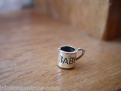 DOLL HOUSE 12th SCALE LOVELY BABIES 'SILVER' MUG !! BUY NOW & DON'T MISS OUT !!!