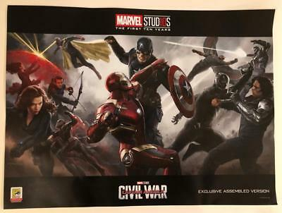 Sdcc 2018 Marvel Studios Captain America Civil War Poster Comic-Con Exclusive