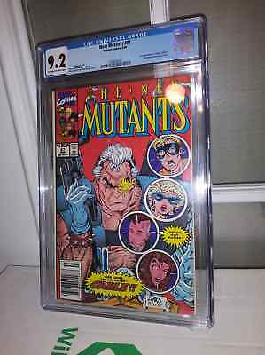 New Mutants 87 CGC 9.2 NM- First Cable!