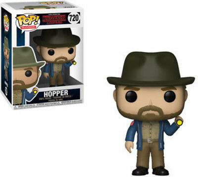 Stranger Things - Hopper W/Flashlight - Funko Pop! Television: (2018, Toy NEUF)
