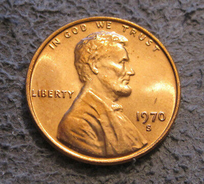 As Shown - 1970 S Uncirculated Lincoln Cent // Mc 179