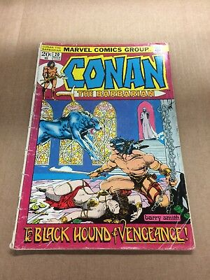 CONAN THE BARBARIAN #20 1972 G+ Bronze Age Marvel Comics Barry Smith art!