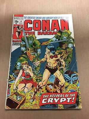 CONAN THE BARBARIAN #8 1972 VG/VG- Bronze Age Marvel Comics Barry Smith art!