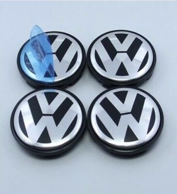 Vw X4 Volkswagen 55Mm Centre Hub Caps Fits Mk5 Mk6 Golf Polo Jetta Bora Beetle
