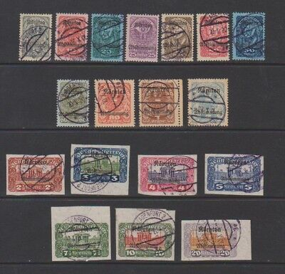 Austria Mostly Used Selection of 1920 Overprinted Semi Postal Issues