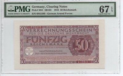 Germany Clearing Notes 50 Reichsmark 1944 MS 67 Certified