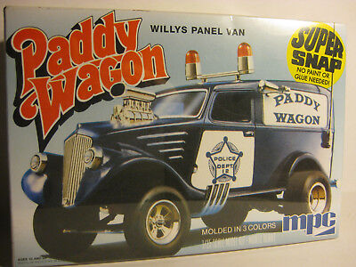 MPC 1933 Willy's Panel Van PADDY WAGON GASSER factory sealed 1/25 scale snap kit