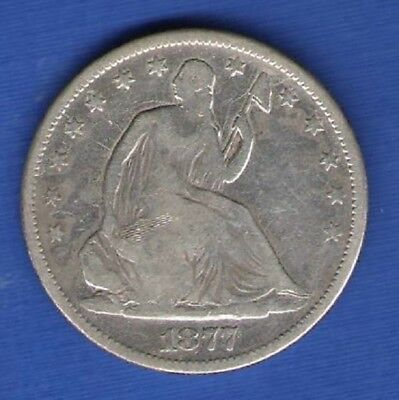 1877-S Seated Liberty Half - Variety 4