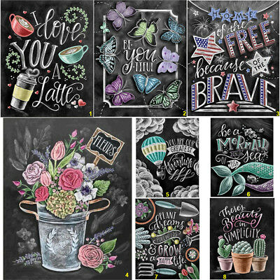 Full Drill Blackboard Drawing DIY 5D Diamond Painting Cross Stitch Kits Decor