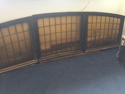 Antique Ships Large Stained Glass Galleon Aft Hatches / Portholes Maine Shipyard